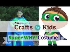 No-Sew Super Why Costume--We think your Super Reader will love this adorable (and easy-to-make) Halloween costume.