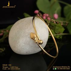 Gold 916 Premium Design Get in touch with us on Gold Jewelry Simple, Gold Rings Jewelry, Heart Jewelry, Sterling Silver Jewelry, Gold Necklaces, Hammered Silver, Silver Ring, Gold Bangles Design, Gold Jewellery Design