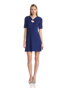 BCBGMAXAZRIA Women's Cypress Shawl Top Cap Sleeve Dress - Satisfied Fashion