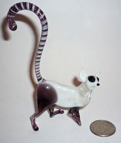 Lemur Glass Art Figurine by artexport on Etsy, $15.99