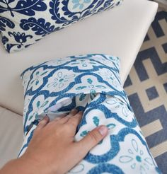 Pillow covers.. I would have to do it by hand don't have a sew machine. oh but do I want to get one