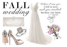 """Fall wedding"" by hola-hi ❤ liked on Polyvore featuring Badgley Mischka, Blue Nile, GCGme and fallwedding"