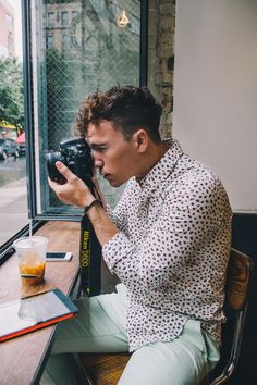 I tend to stay away from all over print but I love seeing it on people that can pull it off. For me much of being stylish is also being confident in what you are wearing. Scout Sixteen - Photography by Emma Kepley