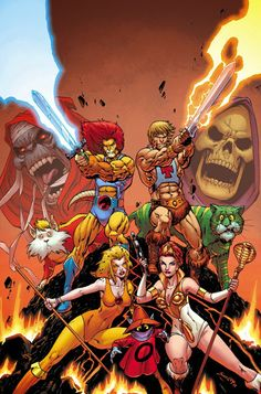 Thundercats/He-Man and the Masters of the Universe!  The epic crossover that needs to happen!