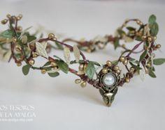 Elven Wald Tiara Elfen-Kopfband Fee Krone von Ayalga auf Etsy