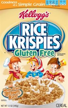 SHUT UP! I just totally did a little happy dance in my living room.  Kellogg's® Rice Krispies® Gluten Free cereal