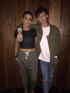 """(Only people who have seen 'Stranger Things' will get this) I saw a thing that said """"remember Mike and Eleven from Stranger Things? This is them now. Feel old yet?"""" With this picture of Halsey and Troye attached to it and I died laughing at it XD"""