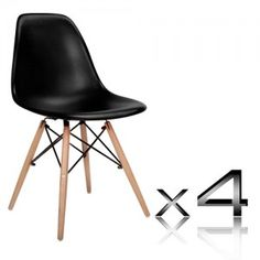 Set of 4 Replica Eames Eiffel DSW Dining Chair   Black Price   223 95replica eames DSW chairs   transparent clear   set of 4   Dining  . Set Of 4 Replica Eames Eiffel Dsw Dining Chair White. Home Design Ideas