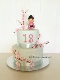 Αποτέλεσμα εικόνας για kokeshi fondant cake