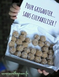Coconut and lemon balls without cooking. A sweetness with almonds and lemon gluten-free, lactose-free, to nibble healthily, without feeling guilty ! Vegan Desserts, Raw Food Recipes, Sweet Recipes, Cooking Recipes, Healthy Recipes, Lactose Free, Dairy Free, Gluten Free, Healthy Snacks