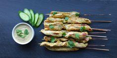 Thai Chicken Skewers with Peanut-Free Satay Sauce