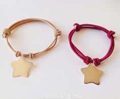 Bolboreta by Iria (complementos): Pulsera con chapa en forma de estrella de plata de ley