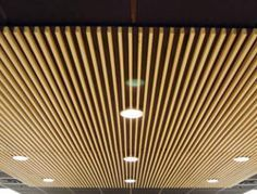 basement wood ceiling ideas. Your wood ceiling experts for custom  suspended ceilings Exterior Ceiling with slats Pinterest Wood