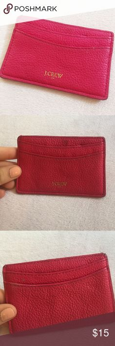 Jcrew card holder A little worn but really cute and useful. Pics are as is J. Crew Accessories Key & Card Holders