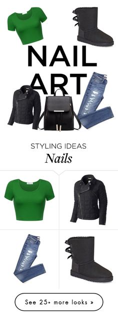 """Green"" by kornpopz on Polyvore featuring SOREL and UGG"