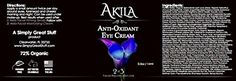 Akila Anti Oxidant Eye Cream - Eye Treatment for Under Eye Wrinkles, Dark Circles and Puffy Eyes. Uses Matrixyl 3000, Amino Acids and Tripeptide-5 and Vitamin C. - .5oz