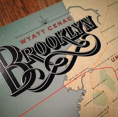 Jessica Hische, Wyatt Cenac #brooklyn #lettering #logo