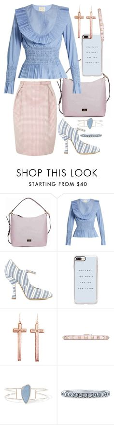 """""""no one awake me up"""" by nothingisnormal ❤ liked on Polyvore featuring Vivienne Westwood Anglomania, Kate Spade, TradeMark, Vivienne Westwood, Casetify, VSA, Valentino, Melissa Joy Manning and BERRICLE"""