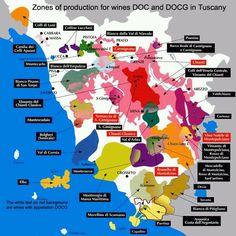 Mas mapas vino de la Toscana
