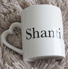 SHANTI #tasse #mug #heart #yoga #shanti Mugs, Heart, Yoga Cat, Cup Of Tea, Peace, Tumblers, Mug, Cups