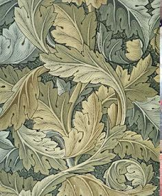 William Morris, Wallpaper. with woodblock printing would take a lot of time. would have to run the paper thru as many times as there are different colors. so if there are 16 diff colors, it has to be run thru 16 times