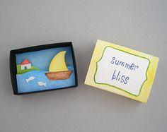 Paper diorama matchbox art in my mind by FishesMakeWishesHome