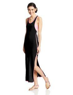 Derek Heart Juniors Solid Maxi Dress with Contrast Binding and Bandeau, Black/Pink, Large Derek Heart http://www.amazon.com/dp/B00I396TT6/ref=cm_sw_r_pi_dp_cADTtb1RSDSBQA8H