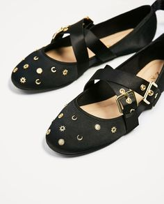 Image 3 of BOW DETAIL BALLERINAS from Zara