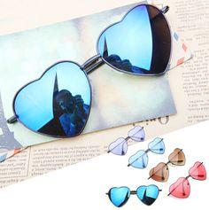 2.94$ (Buy here: http://alipromo.com/redirect/product/olggsvsyvirrjo72hvdqvl2ak2td7iz7/2033373165/en ) BOUTIQUE Heart Shaped Sunglasses WOMEN metal Reflective LENES Fashion sun GLASSES MEN Mirror oculos de sol NEW for just 2.94$