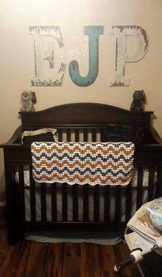 My son Eric Jaxon's Nursery #Wolves #Woodland #countryboy #custom #EJ #EricJaxon #LittleWolf