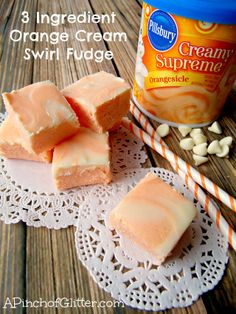 3 Ingredient Orange Cream Swirl Fudge: A Pinch of Glitter