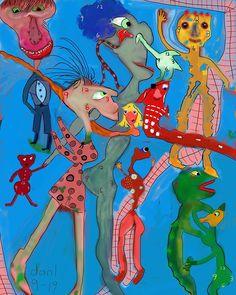 Daniel Conley (Instagram @danlcon) •  Digital self taught artist. Singer/songwriter conley.danielj@gmail.com danielconleymusicandart.com......................................................................#whimsical #whimsicalart  #whimsicalpainting  #digitalart #digitalcreation #digitalpainting Primitive Folk Art, Magic Art, Naive Art, Whimsical Art, Fantasy Art, Digital Art, Creatures, Singer, Stamp