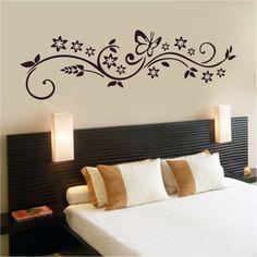 adesivo de parede - floral borboleta - decoração artm adesivos
