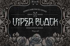 Viper Black. Fonts. $10.00
