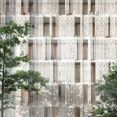 Restello [Piercy Conners Archiects] : A residential block clad in perforated steel shutters by UK architects is about to begin construction in Kolkata, India.
