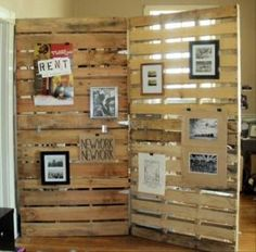 The Perfect Pallet Room Divider Pallet Wood Wall Pallet Room Divider is one of pictures of furniture ideas for your home or office. The resolution of Perfe Discover the gallery of the Perfect Pallet Room Divider Pallet Wood Wall Pallet Room Divider Wooden Pallet Projects, Pallet Crafts, Diy Projects, Pallet Ideas, Project Ideas, Diy Pallet, Outdoor Pallet, Pallet Fence, Pallet Tv