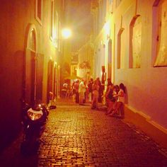 Nightlife in Old San Juan, Puerto Rico