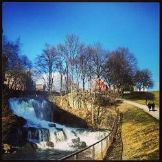 mølleparken and the house of hønse-lovisa Oslo, Niagara Falls, Waterfall, Nature, House, Travel, Outdoor, Outdoors, Naturaleza