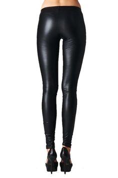 Zoe Leather Look Leggings - Black RESTOCKED!//those leggings
