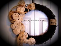 My momma makes these awesome wreaths! Super cute! She sells them on etsy! Check it out by just clicking on the picture!