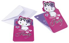 Pozvánka na narozeniny Charmmy Kitty Hearts Pink Parties, Hello Kitty, Playing Cards, Snoopy, Party, Character, Accessories, Playing Card Games, Parties