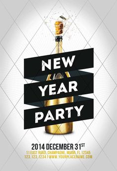 House Party Flyer New Years Ideas Source by nolatunaqew Related posts: 61 Ideas Party New Year Decoration Happy 25 Fun New Years Eve Party Ideas for Kids You've Never Thought Of! 29 ideas for party dress new years eve … Club Poster, Party Poster, Gig Poster, Nye Party, Party Flyer, New Years Eve Invitations, Party Invitations, Event Poster Design, Flyer Design