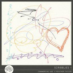 Scribblies 1::24/09 - Wonderful Wednesday::Memory Scraps {CU}