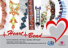 """Bastelanleitung - Buch """"Heart Bead – Schmuckstücke mit Herz"""" - ein Designerstück von PerlenHarmonyOase bei DaWanda"""