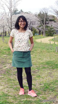 Very Purple Person | Scout woven tee and Moss skirt