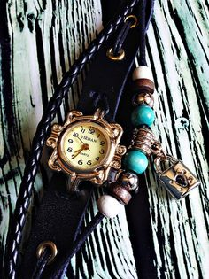Wrap Watch Vintage Style Charm Leather