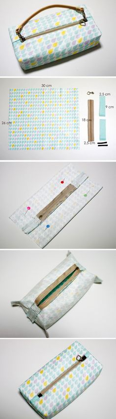 Boxy Pouch / Bag DIY tutorial with patterns.  http://www.handmadiya.com/2015/10/boxy-pouch-tutorial.html