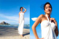 Only $36!!!! summer+White+Halter++long+maxi+beach+sun+dress+XS+S+by+Onumadress,+฿1,150.00