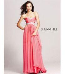 Sherri Hill Coral Gown