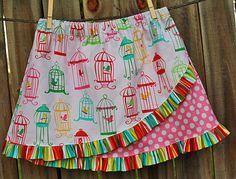 Euro Ruffle Skirt Pattern, Girls Sewing Pattern, Ruffled Skirt Tutorial. $6.95, via Etsy.